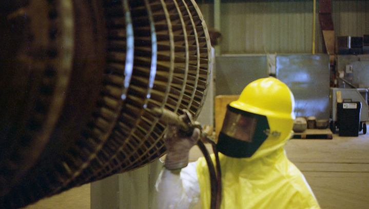 blast cleaning for turbines